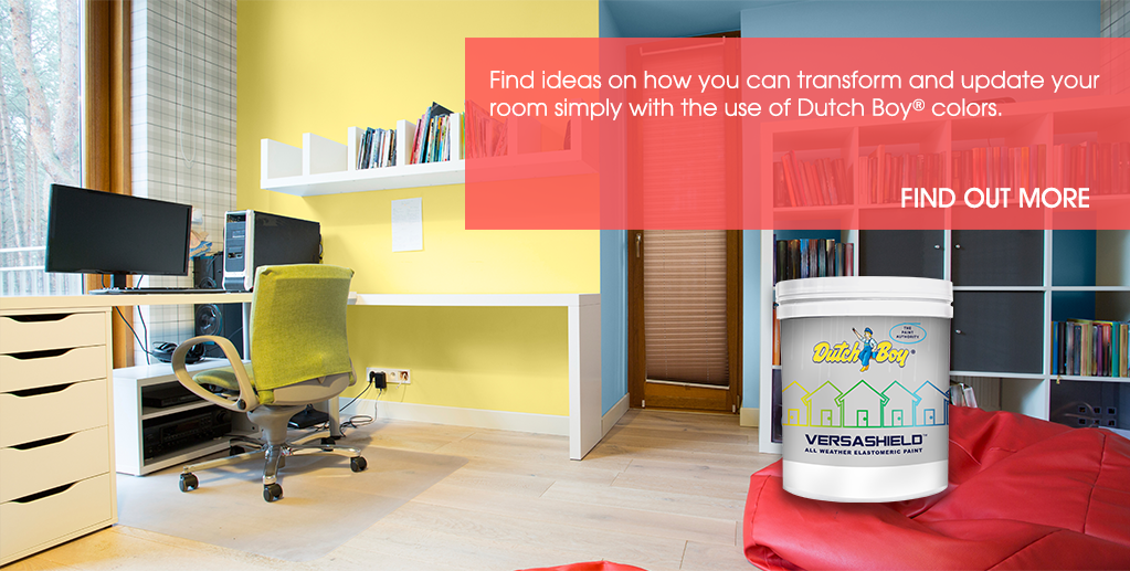 Find ideas on how you can transform and update your room simply with the use of Dutch Boy colors